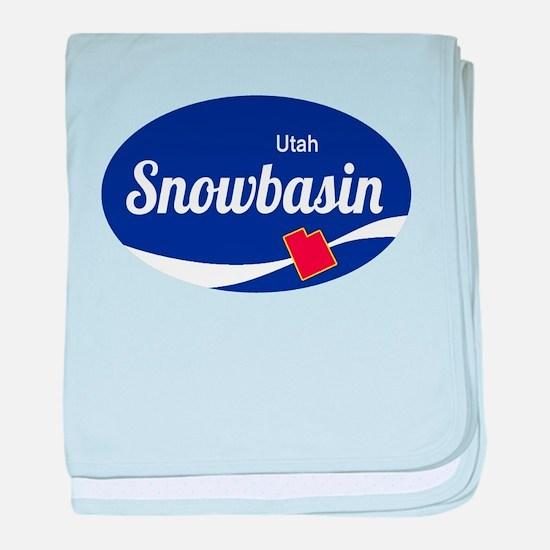 Snowbasin Ski Resort Utah oval baby blanket