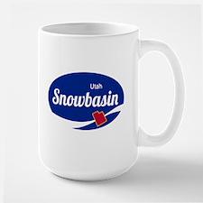 Snowbasin Ski Resort Utah oval Mugs