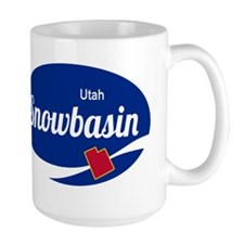 Snowbasin Ski Resort Utah oval Mugs