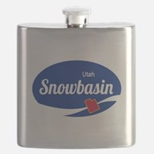 Snowbasin Ski Resort Utah oval Flask