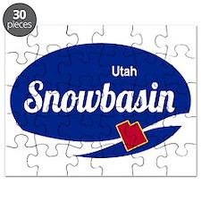 Snowbasin Ski Resort Utah oval Puzzle