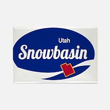 Snowbasin Ski Resort Utah oval Magnets