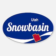 Snowbasin Ski Resort Utah oval Decal