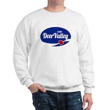 Deer Valley Ski Resort Utah oval Sweatshirt