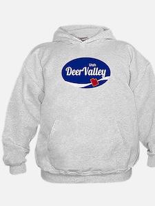 Deer Valley Ski Resort Utah oval Hoodie