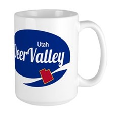 Deer Valley Ski Resort Utah oval Mugs