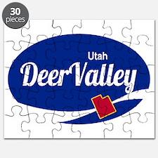 Deer Valley Ski Resort Utah oval Puzzle