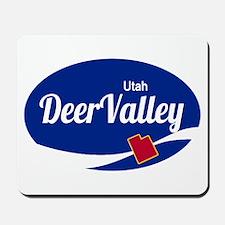 Deer Valley Ski Resort Utah oval Mousepad