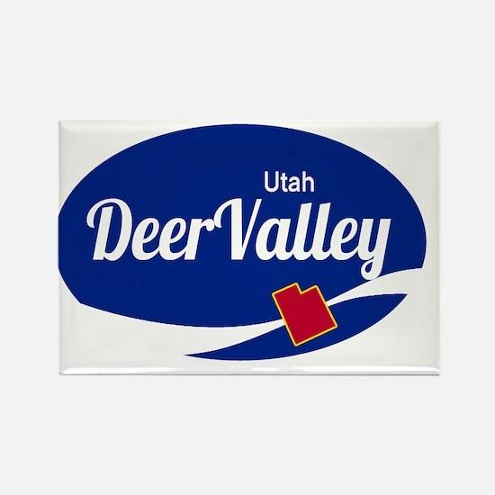 Deer Valley Ski Resort Utah oval Magnets