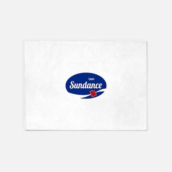 Sundance Ski Resort Utah oval 5'x7'Area Rug