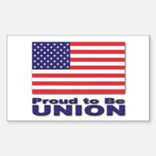 Proud to be Union Rectangle Decal