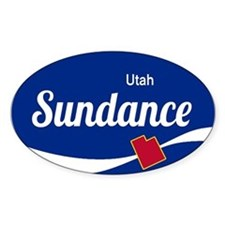 Sundance Ski Resort Utah oval Decal