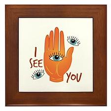 I See You Framed Tile