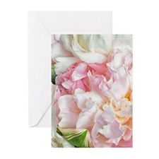 Blooming Peonies Greeting Cards