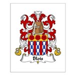 Blois Family Crest Small Poster
