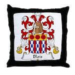 Blois Family Crest Throw Pillow