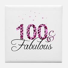 100 and Fabulous Tile Coaster