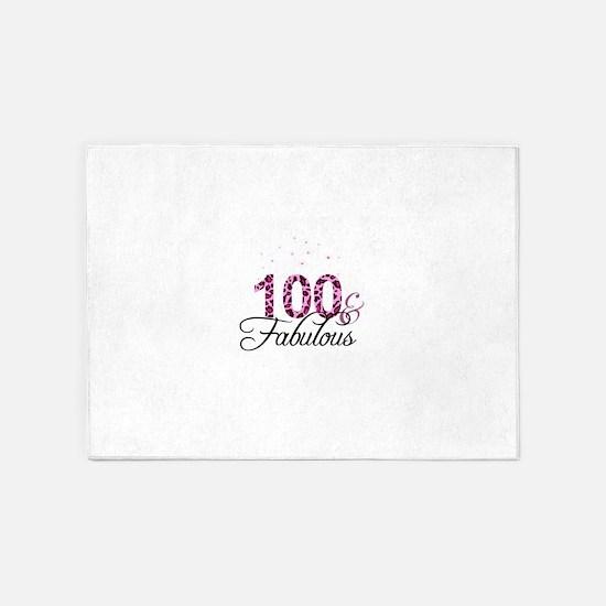 100 and Fabulous 5'x7'Area Rug