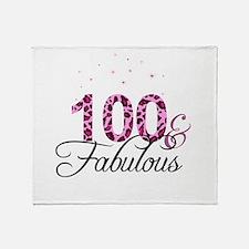 100 and Fabulous Throw Blanket