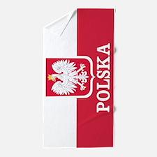 Personalized Polska Flag Polish Beach Towel
