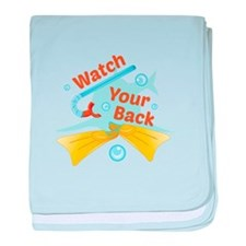 Watch Your Back baby blanket