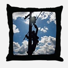 Rusty the Lineman Throw Pillow