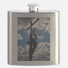 Rusty the Lineman Flask