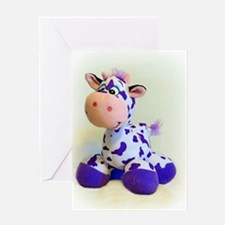 Purple Cow Greeting Cards