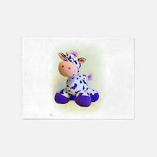 Purple Cow 5'x7'Area Rug