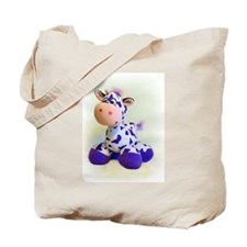 Purple Cow Tote Bag