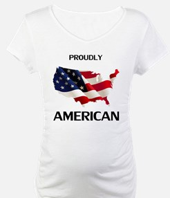 USA Flag Proudly American 4th of Shirt