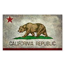State flag of California - Vintage retro e Decal