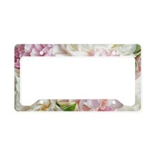 Blooming Peonies License Plate Holder