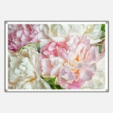 Blooming Peonies Banner