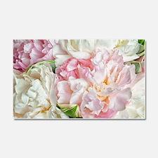 Blooming Peonies Car Magnet 20 x 12