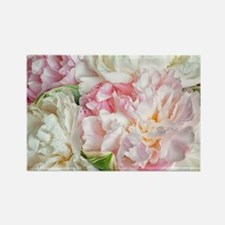 Blooming Peonies Rectangle Magnet