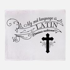 Latin is My 2nd Language Throw Blanket