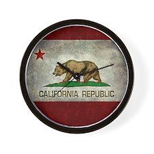 State flag of California - Vintage retr Wall Clock