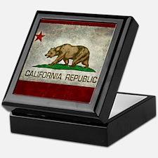 State flag of California - Vintage re Keepsake Box
