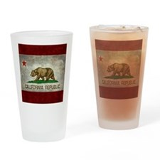 State flag of California - Vintage Drinking Glass