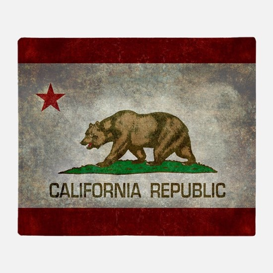 State flag of California - Vintage r Throw Blanket