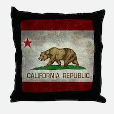 State flag of California - Vintage re Throw Pillow