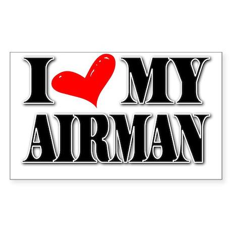 I <3 MY AIRMAN Rectangle Sticker