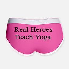Real Heroes Teach Yoga  Women's Boy Brief