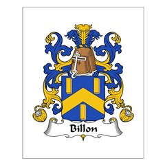 Billon Family Crest Posters