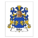 Billet Family Crest Small Poster
