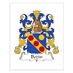 Bezin Family Crest Small Poster