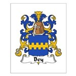 Bey Family Crest Small Poster