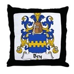Bey Family Crest Throw Pillow