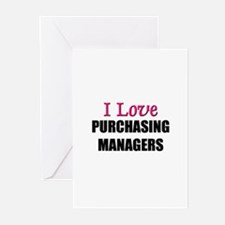 I Love PURCHASING MANAGERS Greeting Cards (Pk of 1